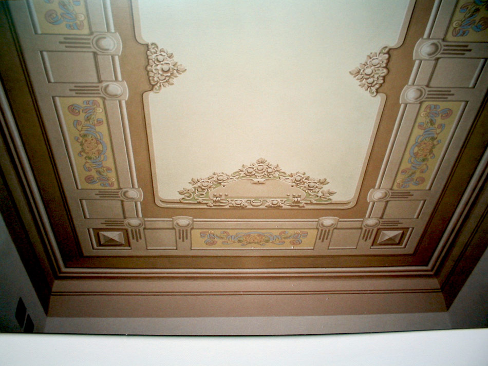 Affresco liberty soffitto battaglini decorazioni for Decorazioni da soffitto