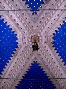 47A-Particolare-del-soffitto-pittura-a-calce-e-foglia-d'oro