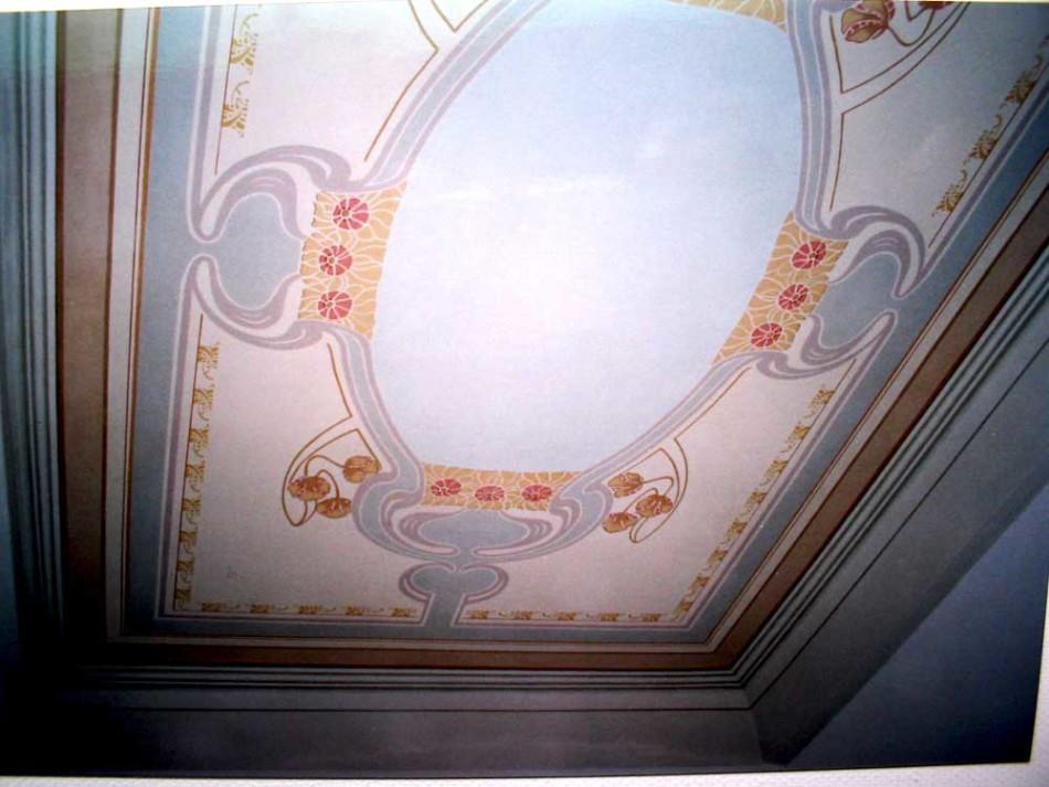 Decorazione soffitto liberty - BATTAGLINI DECORAZIONI