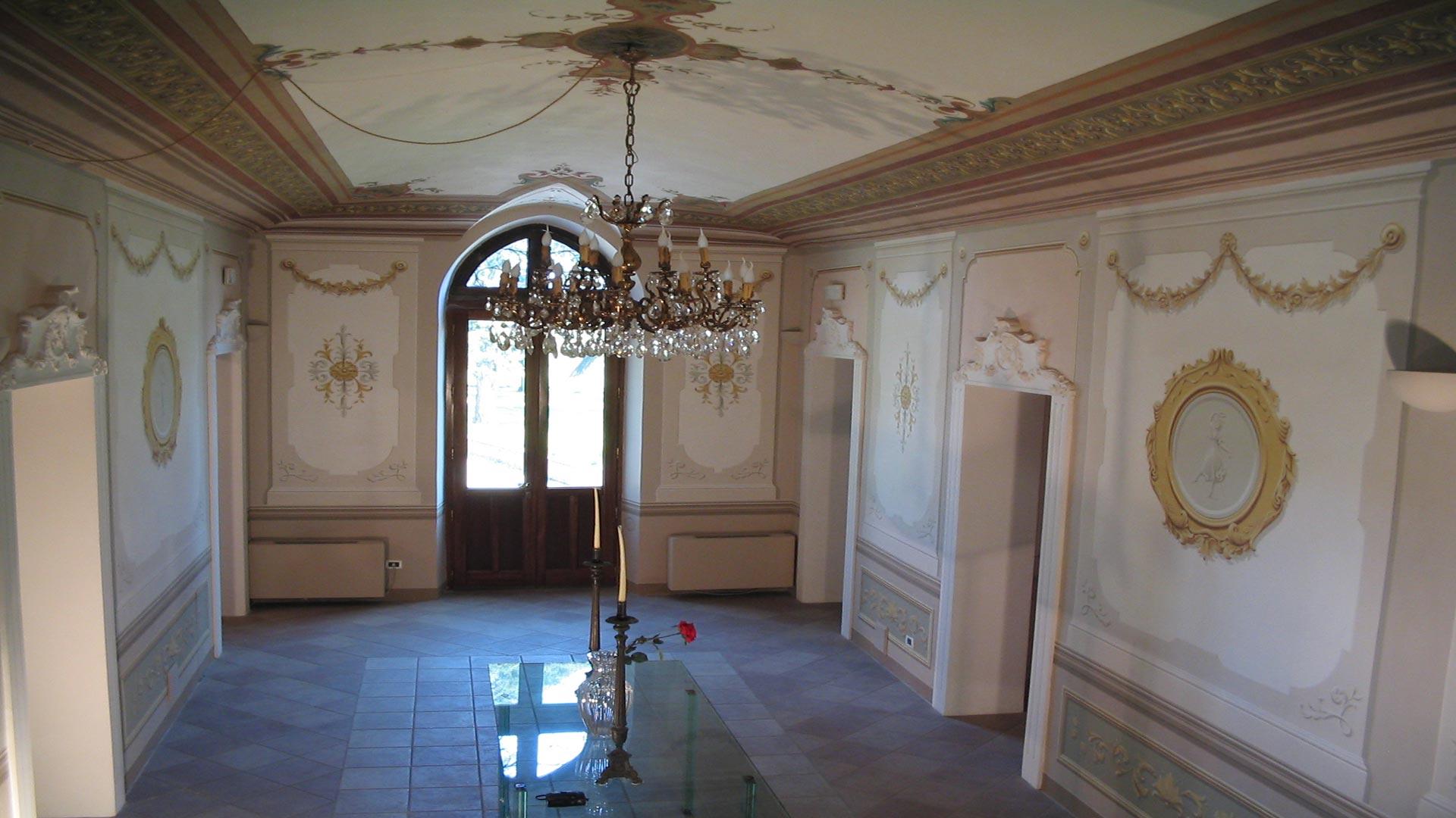 Affresco soffitto battaglini decorazioni - Decorazioni soffitto ...